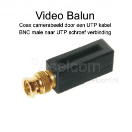 Bewakingscamera video balun coax via UTP netwerkkabel