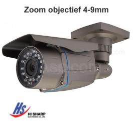 Hi-Sharp HS-CT7201 Beveiligingscamera met verstelbaar 4-9mm objectief