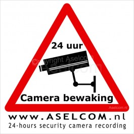 CCTV  Bewakingscamera sticker 10x10cm van Aselcom.nl