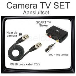 TV aansluitset van Aselcom voor bewakingscamera's
