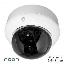 Neon Dome beveiligingscamera met 2.8-11mm lens