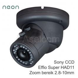 Bewakingscamera met verstelbare lens 2.8-10mm
