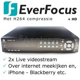 Everfocus Ecor H264 4 kanalen bewakingscamera recorder
