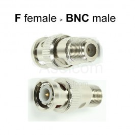 BNC male naar F female connector