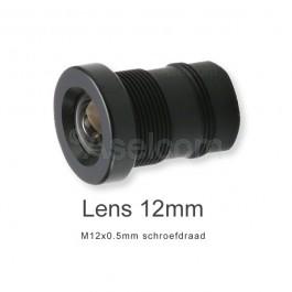 Mini bewakingscamera objectief 12mm met M12x0.5mm schroefdraad