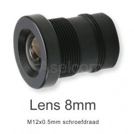 Mini bewakingscamera objectief 8mm met M12x0.5mm schroefdraad