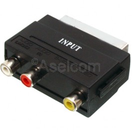 Scart male connector naar tulp female
