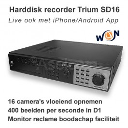 Digitale videorecorder Trium SD16 Win4Net realtime