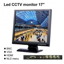 Led CCTV monitor 17inch optimaal bewakingscamera