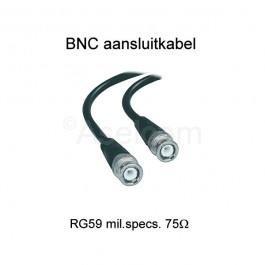 BNC aansluitkabel 3 mtr RG59 mil.specs 75Ω