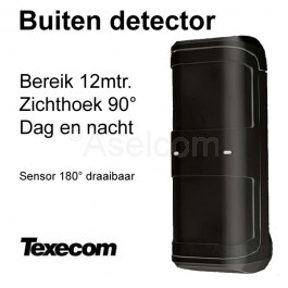 Texecom Prestige External TD black Infrarood buiten alarm detector