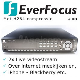 Everfocus Ecor H264 16 kanalen bewakingscamera recorder