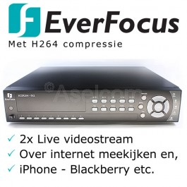 Everfocus Ecor H264 9 kanalen bewakingscamera recorder