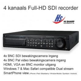 Win4Net Trium FD04 Full-HD SDI bewakingscamera recorder