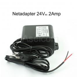 24Volt 2Amp adapter met aangegoten netsnoer