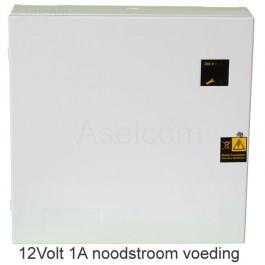 Compacte UPS Noodstroom voeding 12Volt 1Amp