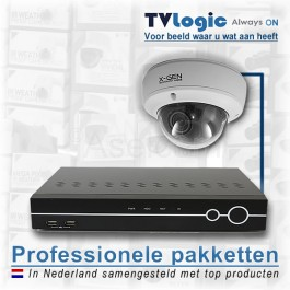 Bewakingscamera start set BS-2 met vandaal bestendige dome camera