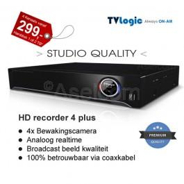 TVLogic Harddisk recorder voor 4x cameras
