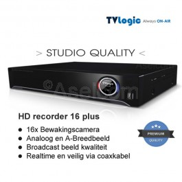 TVLogic Harddisk recorder voor 16x cameras