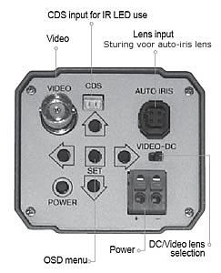 X-Gen BR100 beveiligingscamera menu