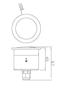 Inbouw maten van de spionage observatie camera