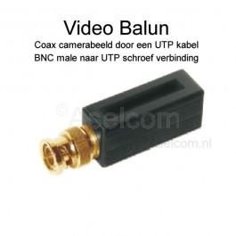 Bewakingscamera video balun coax via UTP netwerkkabel