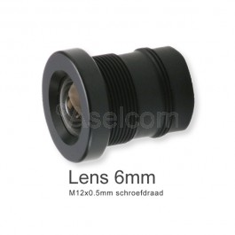 Mini bewakingscamera objectief 6mm met M12x0.5mm schroefdraad
