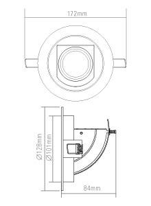 Bewakingscamera in Plafondspot behuizing
