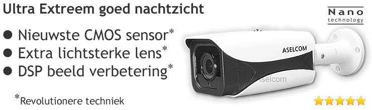 Ultra extreem lichtgevoelige bewakingscamera